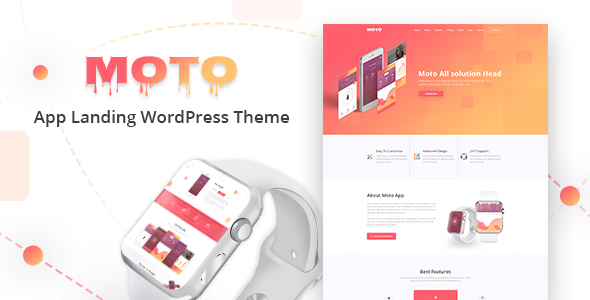 Download Moto - WordPress Landing Page Theme