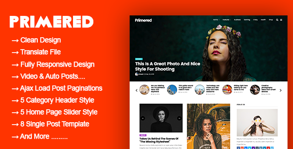 Primered - WordPress Blog Magazine Theme