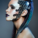 Shot of a futuristic young woman. - PhotoDune Item for Sale