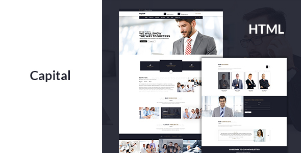 Finance - Business Consulting and Professional Services HTML Template