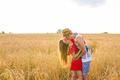 Happy romantic couple outdoor, summertime