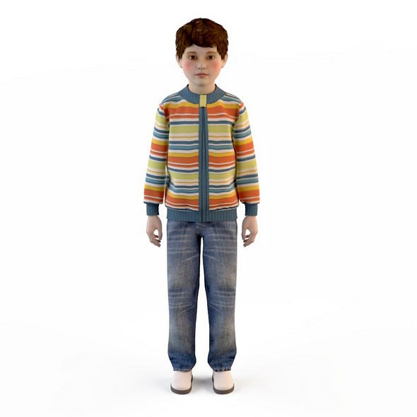 children's clothes for boys ( jacket , jeans ) - 3DOcean Item for Sale