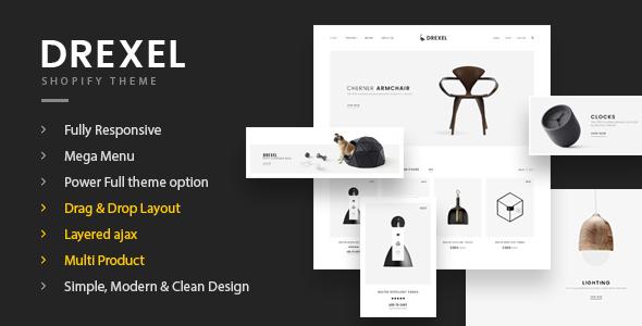 Fastest Drexel - Minimal Responsive Shopify Shopify Theme