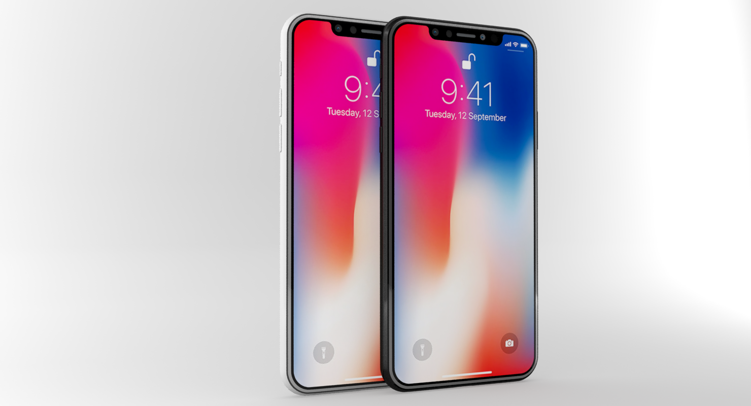Apple Iphone X White Gray By Polygon3d