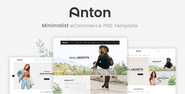 Anton - Ecommerce PSD Template - Fashion Retail