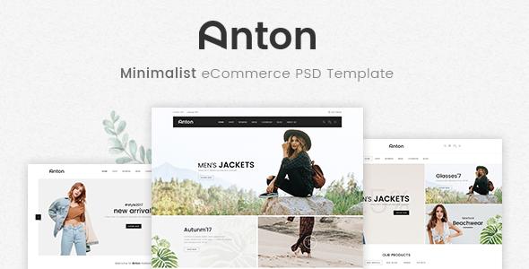 Anton - Ecommerce PSD Template
