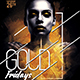 Gold Fridays Party Flyer