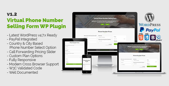 Virtual Phone Number Selling Form WordPress Plugin - CodeCanyon Item for Sale