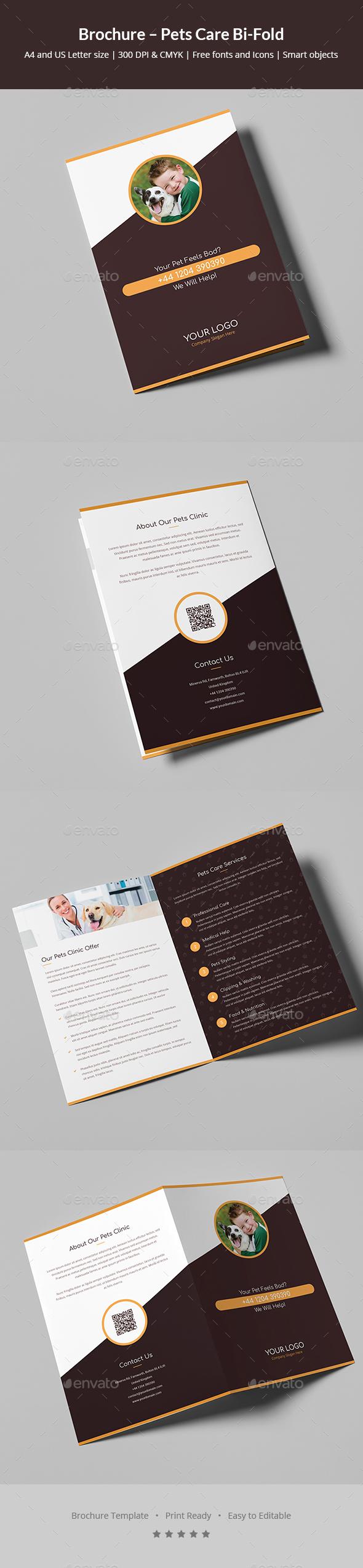 Brochure – Pets Care Bi-Fold - Informational Brochures