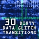 Dirty Data Glitch Transitions - VideoHive Item for Sale