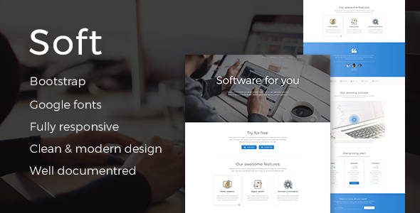Soft - Responsive HTML Software Development Template