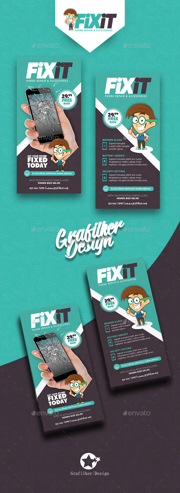 Phone Repair Flyer Templates - Corporate Flyers