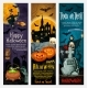 Happy Halloween Banner with Ghost and Pumpkin - GraphicRiver Item for Sale