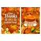 Thanksgiving Dinner Poster Set with Turkey and Pie - GraphicRiver Item for Sale
