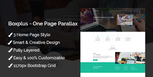 Boxplus - One Page Parallax - Business Corporate