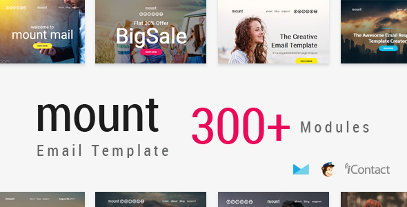 Mount Mail 300+ Modules - Responsive E-mail Template + Online Access