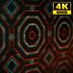 4K Sci-fi Kaleida Background Orange and Digital Green 1