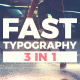 Fast Typography - VideoHive Item for Sale