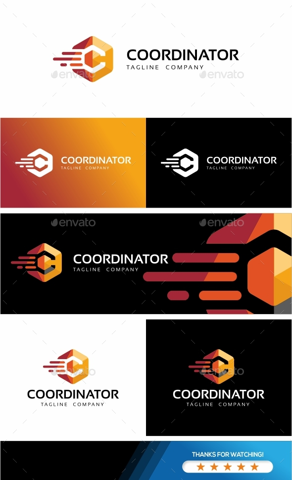 GraphicRiver Coordinator-Hexagon Logo Template 20694195