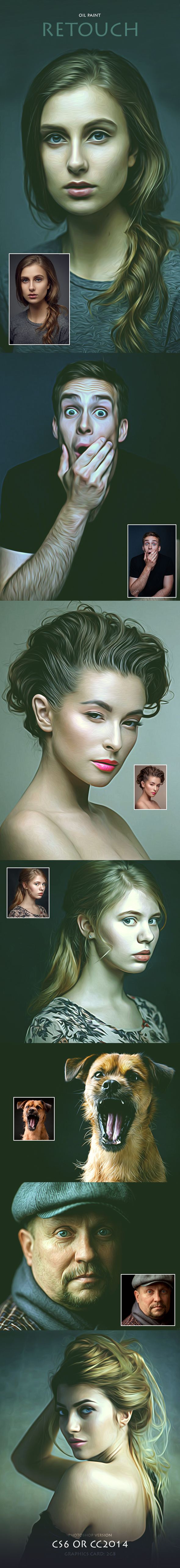 Oil Paint Retouch - Photo Effects Actions