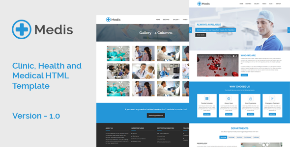 Medis - Clinic, Health and Medical HTML Template