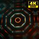 4K Sci-fi Kaleida Background Orange and Digital Green 2