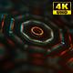 4K Sci-fi Kaleida Background Orange and Digital Green 3