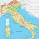 Italy Physical Map - GraphicRiver Item for Sale