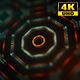 4K Sci-fi Kaleida Background Orange and Digital Green 4