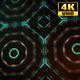 4K Sci-fi Kaleida Background Orange and Digital Green 5
