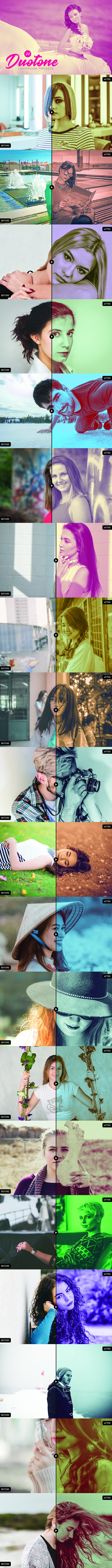 GraphicRiver 20 Duotone Lightroom Presets 20694342