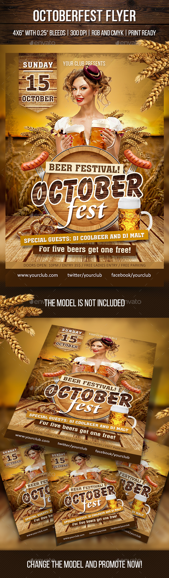 Octoberfest Flyer - Clubs & Parties Events