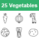 Vegetables II outlines vector icons - GraphicRiver Item for Sale