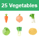 Vegetables II color vector icons