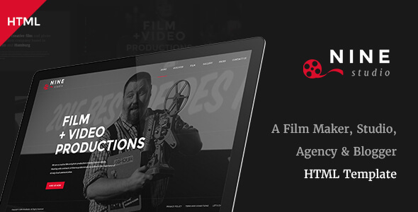 Nine Studio - A Film Maker, Studio, Agency & Blogger HTML Template - Creative Site Templates