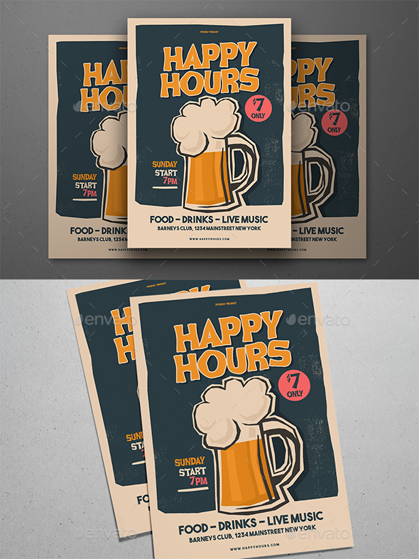 Happy Hours Flyer - Events Flyers