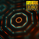 FullHD Sci-fi Kaleida Background Orange and Digital Green 4