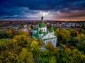 Kirilovska church in autumn trees