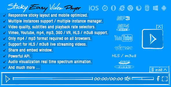 Sticky Easy Video Player Wordpress Plugin