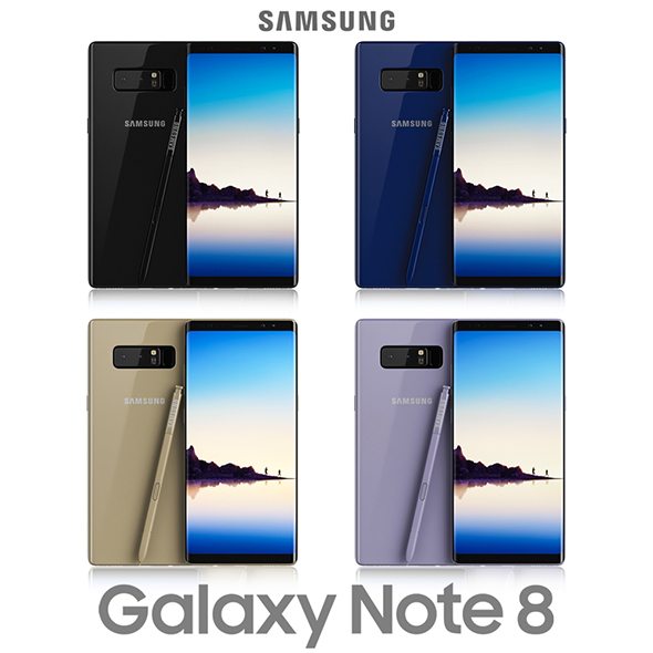 3DOcean Samsung Galaxy Note 8 All Colors 20694854