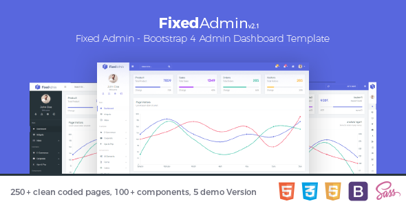 Fixed Admin - Bootstrap 4 Admin Dashboard Template