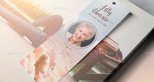 REC-Funeral Memorial Bookmarkers