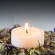 Flower potpourri  with lit candle. - PhotoDune Item for Sale