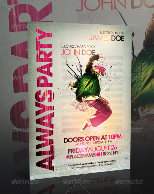 Always Party Flyer Template - Clubs & Parties Events