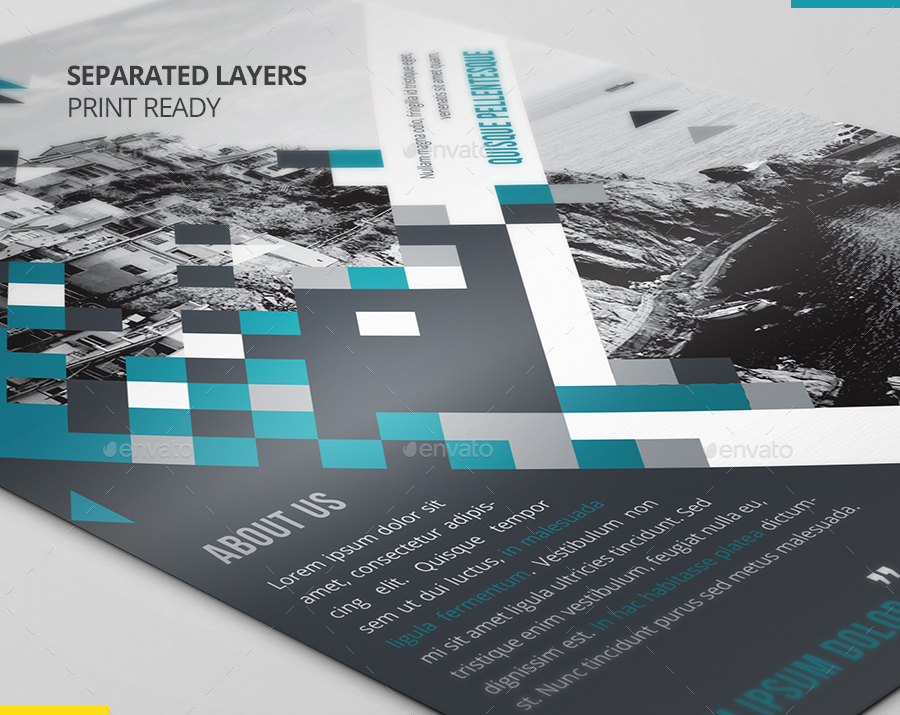 modern us letter double sided flyer template by nbelmokhtar