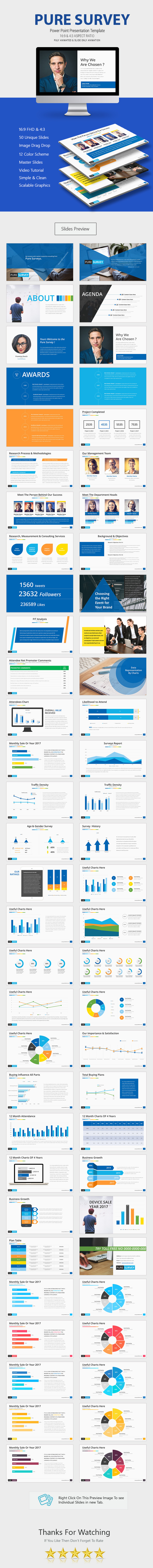 Pure Survey Power Point Presentation - Business PowerPoint Templates
