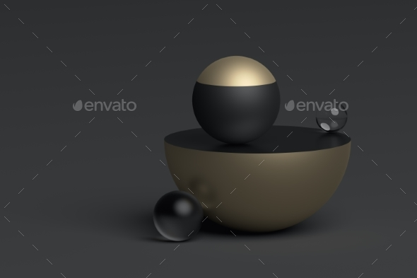 GraphicRiver Abstract 3D Rendering of Geometric Shapes 20695584