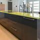 Modern kitchen with green quartz island close-up - PhotoDune Item for Sale
