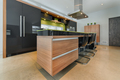 Modern kitchen island with integrated drawers