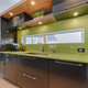 Modern kitchen with green quartz counter top close-up - PhotoDune Item for Sale